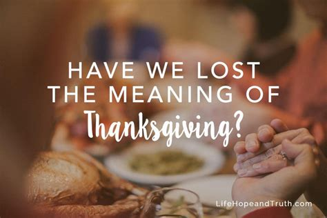 the forgotten of what means and why it matters books we lost the meaning of thanksgiving