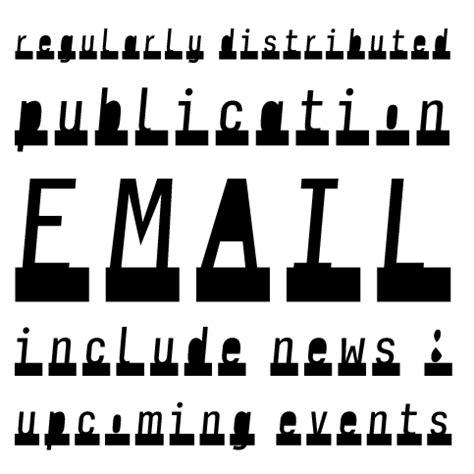 font newsletter design newsletter stencil volcano type