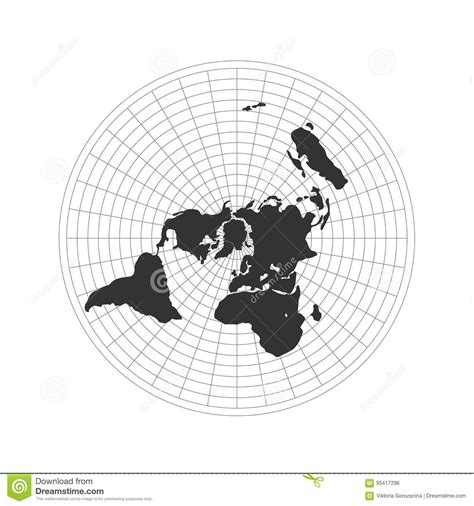 flat earth map logo vector illustration stock vector