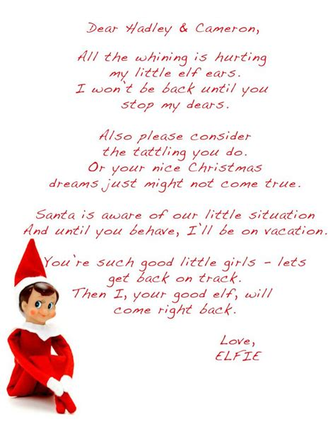 free printable elf on the shelf template search results for template for a letter from elf on a