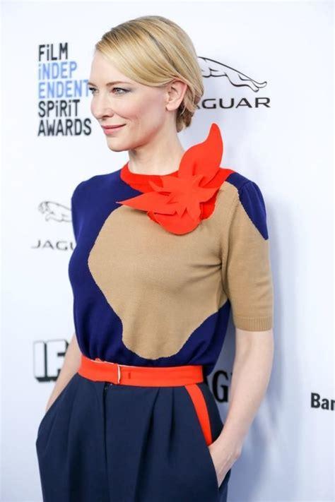 nominados critics choice awards a c 225 mara lenta cate blanchett vestida de delpozo en la presentaci 243 n de los nominados a los premios spirit