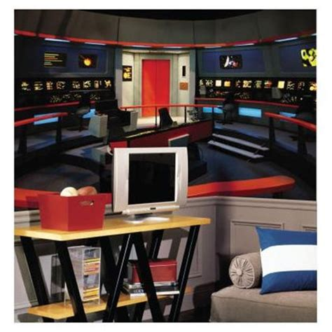 trek wall mural 10 things to help turn your bedroom into a spaceship