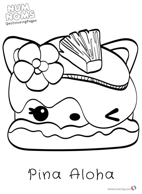 Coloring Page Num Noms by Num Nom Coloring Pages Coloring Pages