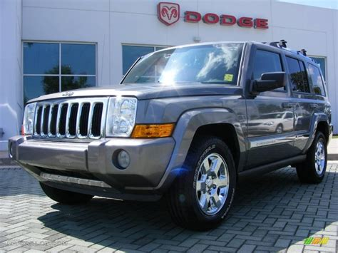 Gray Jeep Commander 2007 Mineral Gray Metallic Jeep Commander Limited