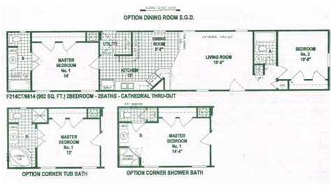 mobile home floorplans single wide mobile home floor plans used single wide