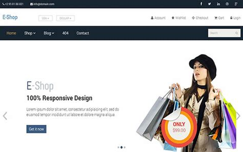 free bootstrap shop template e shop free bootstrap responsive html5 template themifycloud
