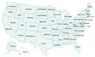 geography us maps with states