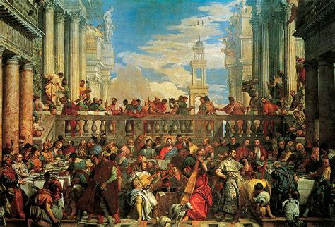 Wedding At Cana Painting In The Louvre by The Wedding Feast At Cana Painting By Veronese