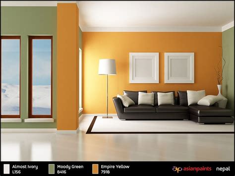 asian paints colours combination delighful living room