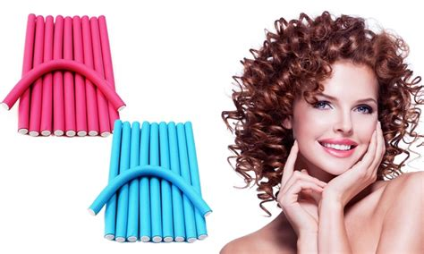 hair curlers rollers foam hair curlers set of 10 groupon goods