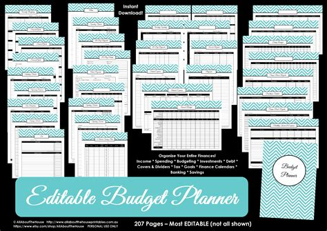 printable planner binder personalised binder cover allaboutthehouse printables