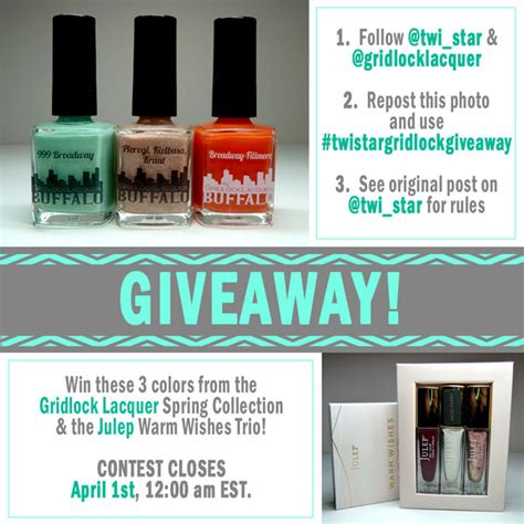 Art Giveaway Instagram - twi star nail art blog instagram giveaway featuring gridlock lacquer and julep