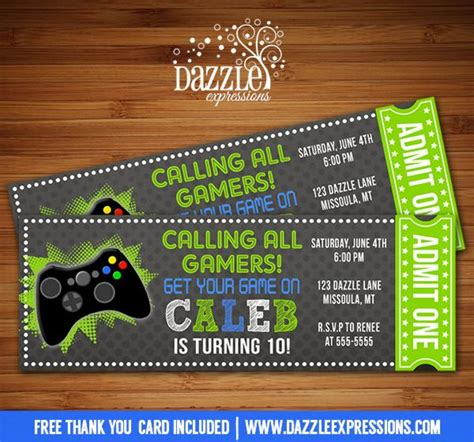 free printable xbox birthday cards best 25 xbox party ideas on pinterest video game party