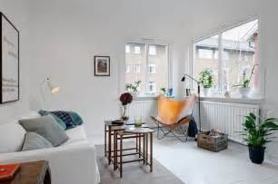 Small Apartment Living Room Interior Design - tiny apartment with an airy and stylish interior