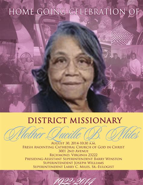 the virtuous wife marie s sweet shoppe 2nd birthday mother lucille miles home going program by taila dubose