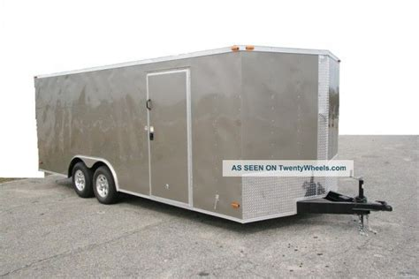 8 5x20 enclosed trailer cargo v nose car hauler