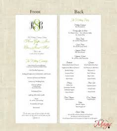 Simple Wedding Program Template by Wedding Ceremony Programs Choose Your Color By Impresspapers