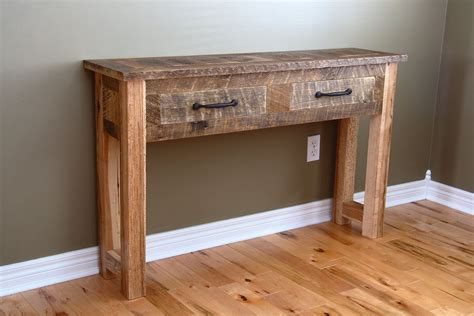 Natural Distressed Wood Sofa Table Bitdigest Design Wooden Sofa Table