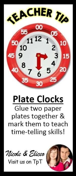 How To Make A Clock Out Of Paper - use paper plates to make a clock for teaching time
