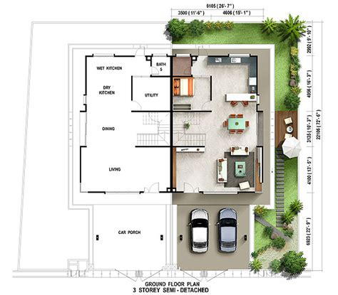 single storey semi detached house floor plan 3 storey semi detached house for sale caribea penang setia pearl island