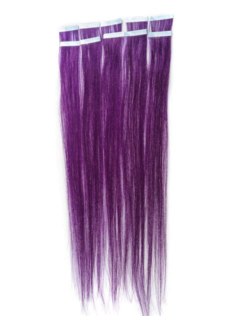 hair extensions purple 18 inch funky purple in hair extensions 10pcs