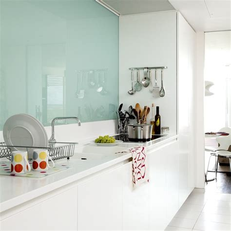extractor over island google search mint green living narrow white kitchen small kitchen design housetohome