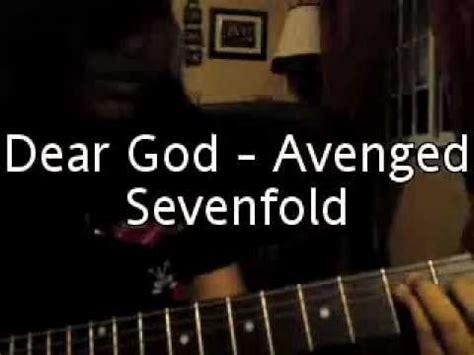 tutorial guitar dear god dear god avenged sevenfold guitar cover w solo youtube