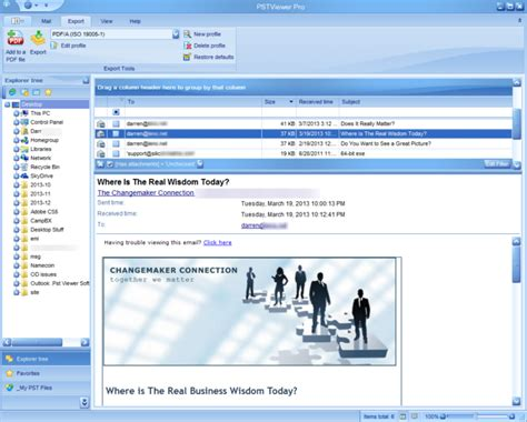 email viewer read outlook pst files with pstreader pro software for