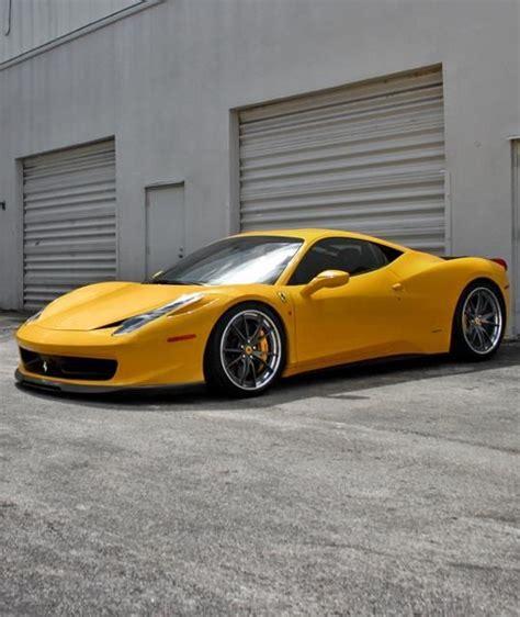 ferrari yellow 458 yellow ferrari 458 italia carflash cars pinterest