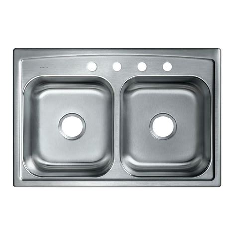 kohler toccata sink reviews kohler toccata drop in stainless steel 33 in 4 hole