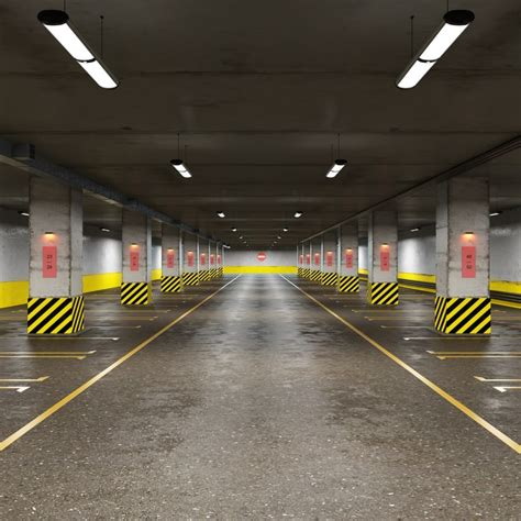 underground parking cars 3d model