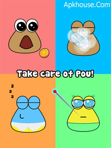apk house pou 1 4 59 mod popular and fun games android poe games apkhouse