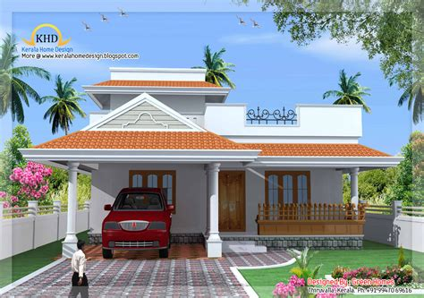 kerala home design 1500 kerala style single floor house plan sq ft home and