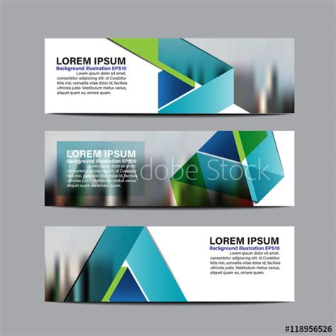 layout design for banner collection business banner set vector design background