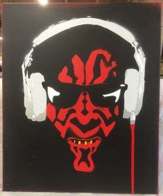 darth maul paint template 16 x 20 acrylic spray paint on stretched canvas