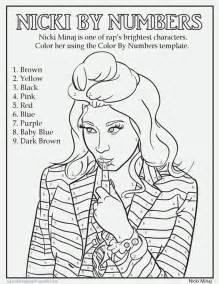 coloring pages of nicki minaj rap coloring book shows hip hop