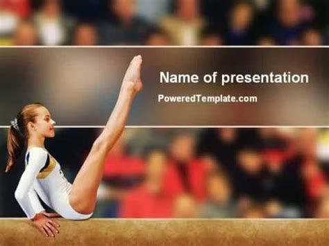 Powerpoint Templates Free Download Gymnastics | artistic gymnastics powerpoint template by poweredtemplate