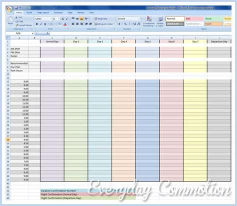 disney vacation planner template free walt disney world disneyland planning spreadsheet