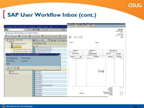sap workflow scenarios document imaging sap content server and the accounting