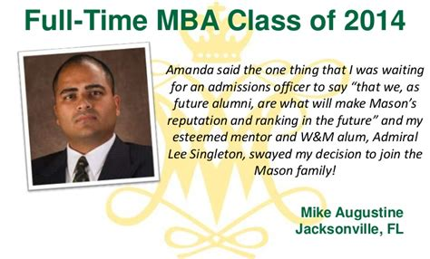 Mba In Jacksonville Fl by Why We Chose W M