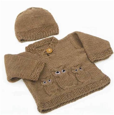 knitting pattern owl sweater owl sweater knitting pattern cardigan with buttons