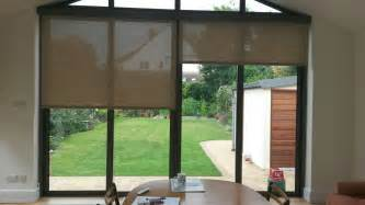 Patio Door Roller Blinds Electric Roller Blinds Covering Bifold Patio Doors