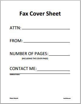 how to do a fax cover letter free fax cover sheet template printable