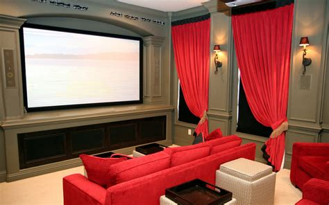 Home Theater Decorating by Hanging Curtains With Valances Newhairstylesformen2014