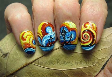acrylic painting nails abstract inspired nail not nails