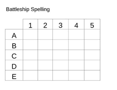 battleship template battleship spelling template by elizabeth leblanc