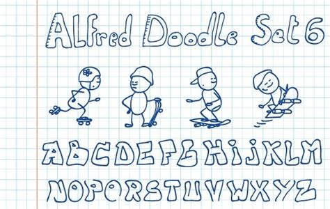 alfred doodle free vector alfred doodle set 6 free vector in encapsulated postscript