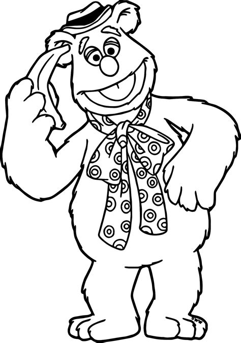 The Muppets Fozzie Coloring Pages Wecoloringpage Fozzie Coloring Pages