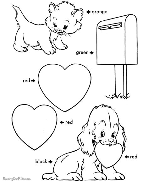 printable valentine coloring pages 019