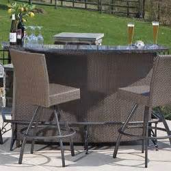 Bar Set Outdoor Patio Furniture Outdoor Bar Sets The Interior Design Inspiration Board